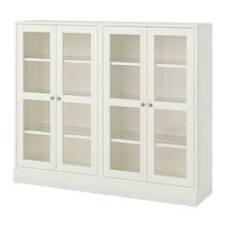 Havsta Storage Combination W Gl Doors White
