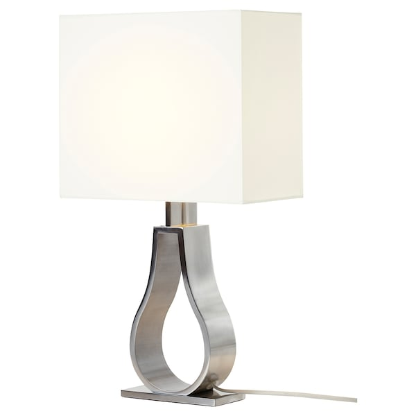 Klabb Table Lamp Off White Nickel Plated Ikea
