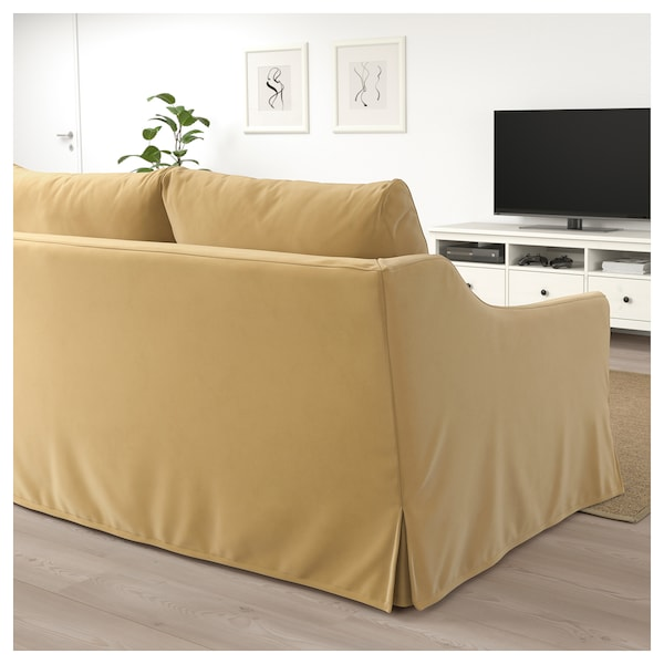 f rl v 2er bettsofa djuparp gelb beige ikea. Black Bedroom Furniture Sets. Home Design Ideas