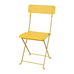 SALTHOLMEN chair, outdoor, foldable, yellow