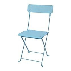 SALTHOLMEN chair, outdoor, foldable, blue