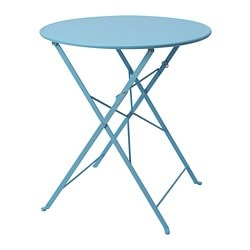 SALTHOLMEN table, outdoor, foldable, blue