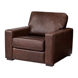 GENEVAD armchair, Garlinge dark brown