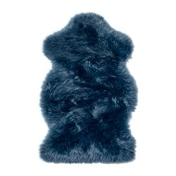 SMIDIE sheepskin, dyed, dark blue