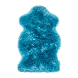 SMIDIE sheepskin, dyed, green-blue