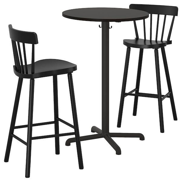 Bar Table And 2 Stools Stensele Norraryd Anthracite Black