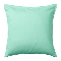 GURLI cushion cover, light turquoise-green