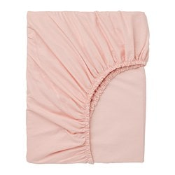 DVALA fitted sheet, light pink