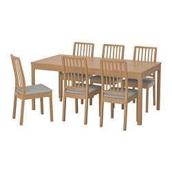 EKEDALEN /  EKEDALEN Table and 6 chairs