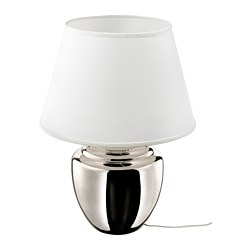 RICKARUM, Table lamp with LED bulb, silver color