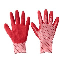 KRYDDNEJLIKA gardening gloves, red