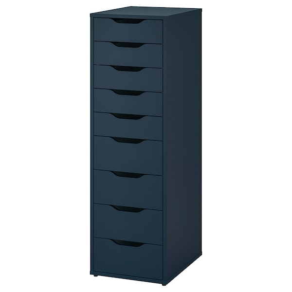 Drawer Unit With 9 Drawers Alex Blue