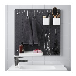 SKÅDIS pegboard combination, black