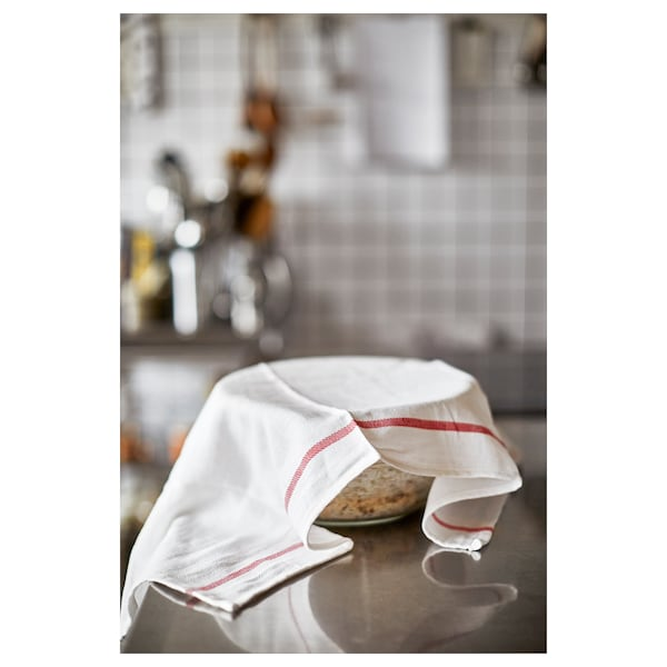 Tea towel TEKLA white, red