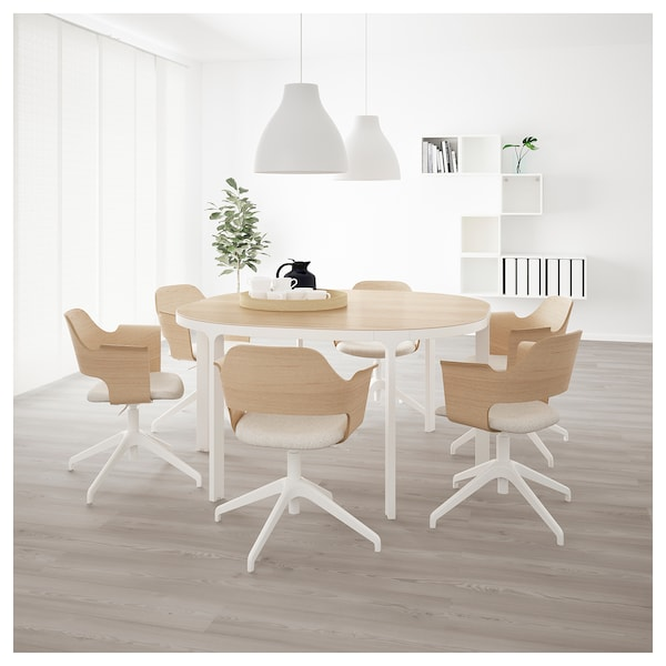 bekant table conf rence plaqu ch ne blanchi blanc ikea. Black Bedroom Furniture Sets. Home Design Ideas