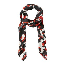 ANNANSTANS scarf, red, black/white