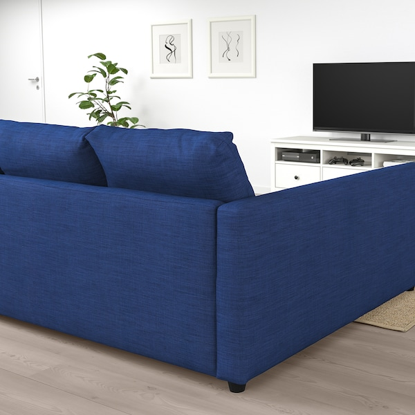 Ikea Divano Friheten.Friheten Corner Sofa Bed With Storage Skiftebo Blue