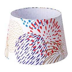 SOLGLIMTAR lamp shade, white