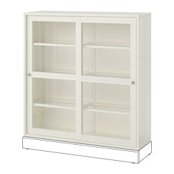 HAVSTA glass-door cabinet, white