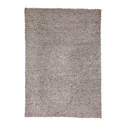 HJORTHEDE rug, handmade, light gray