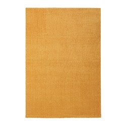 LANGSTED rug, low pile, yellow