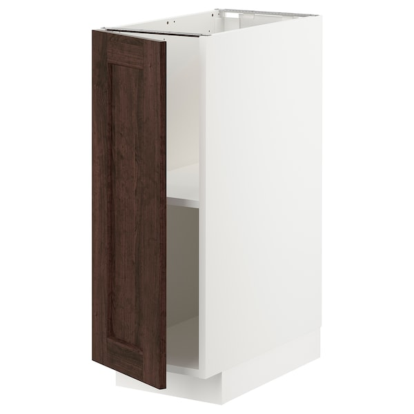 Metod Base Cabinet With Shelves White Edserum Brown Ikea