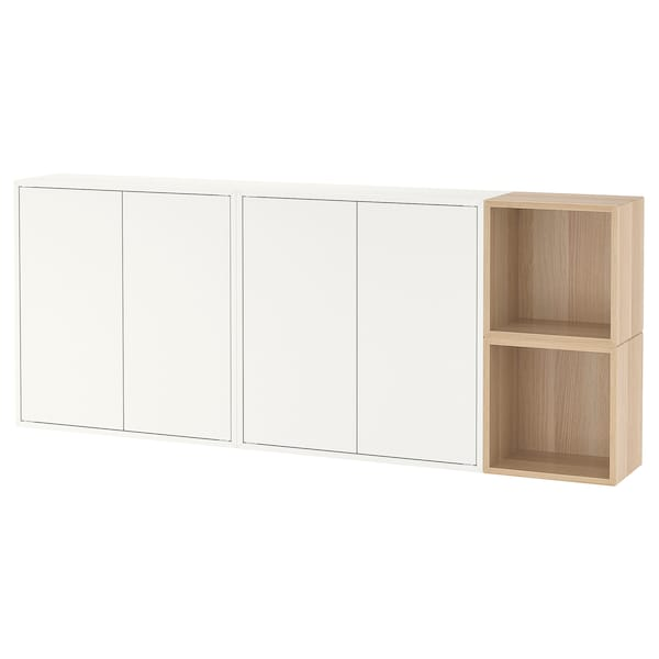 Eket Wall Mounted Cabinet Combination White Stained Oak Effect