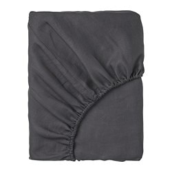 PUDERVIVA fitted sheet, dark grey