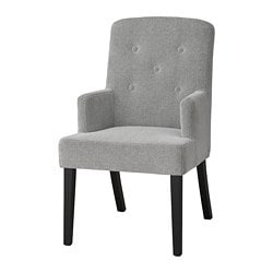 SVENARNE chair with armrests, Tallmyra white, black