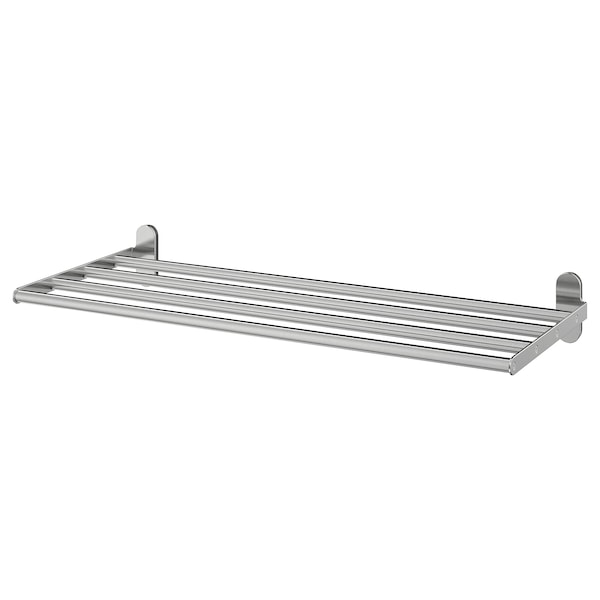 Wall Shelf With Towel Rail Brogrund Stainless Steel