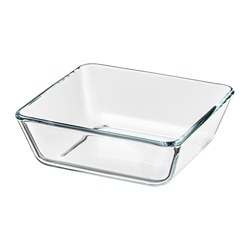 MIXTUR oven/serving dish, clear glass