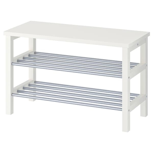 Shoe Storage Bench White Tjusig With UzpVSM