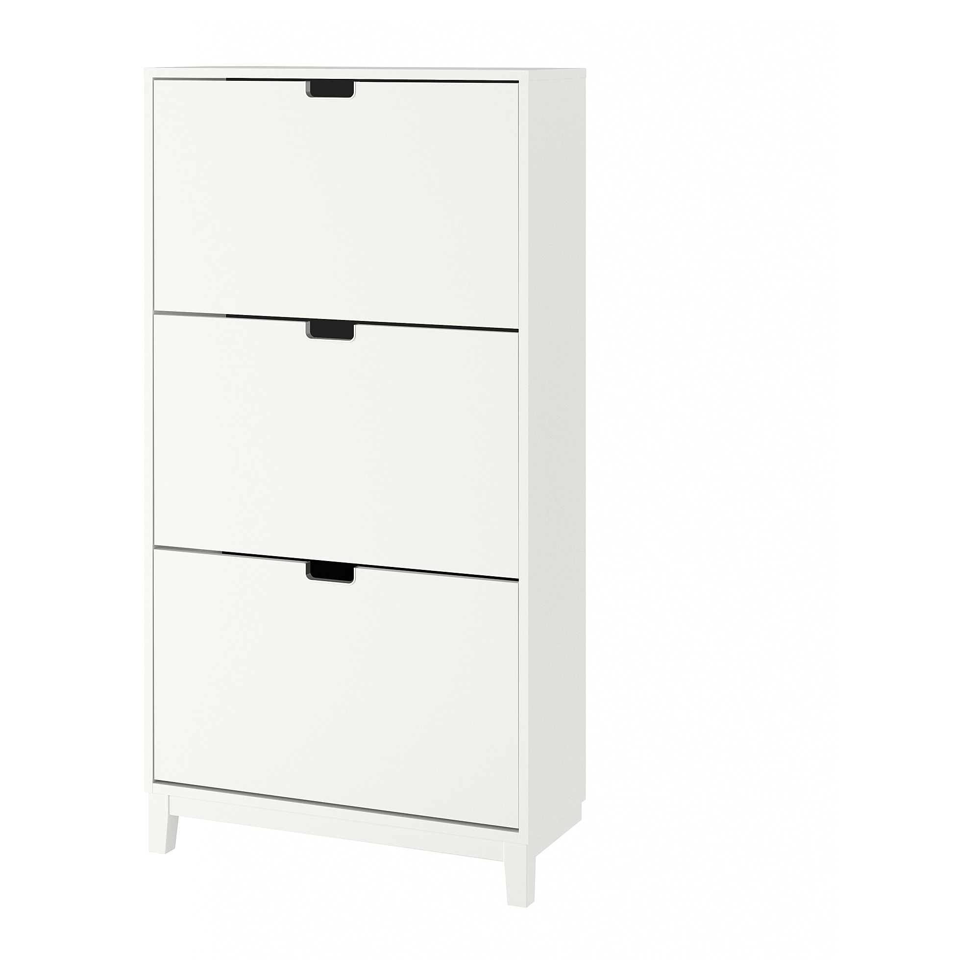 Shoe cabinet with 3 compartments STÄLL white