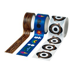 FÖRNYAD roll of tape, set of 3, assorted patterns