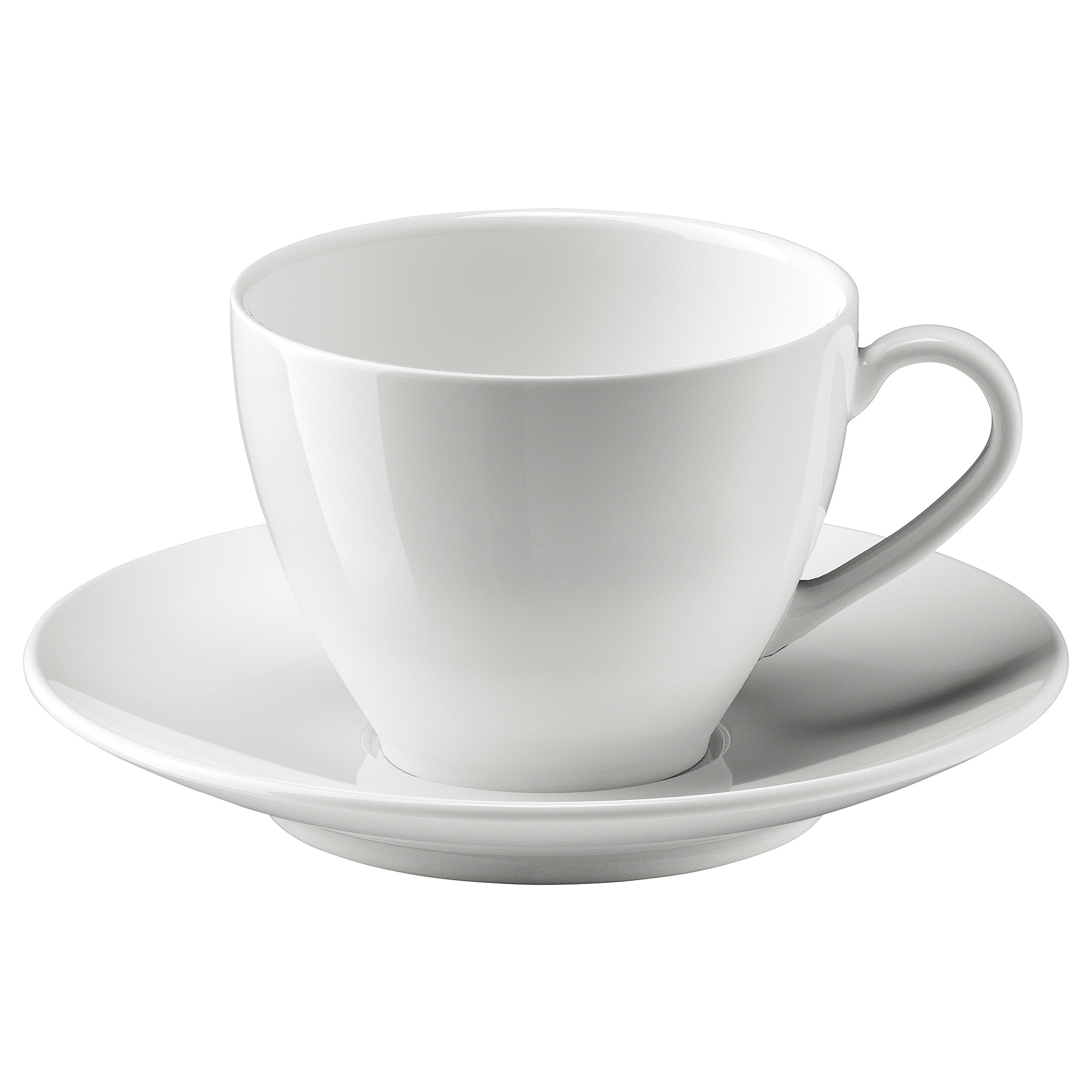 V 196 Rdera Coffee Cup And Saucer White Ikea