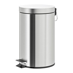 STRAPATS pedal bin, stainless steel