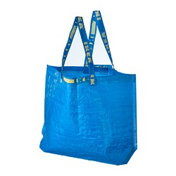 FRAKTA carrier bag, medium, blue