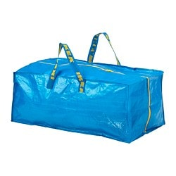 FRAKTA trunk for trolley, blue