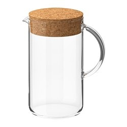 IKEA 365+ jug with lid, clear glass, cork