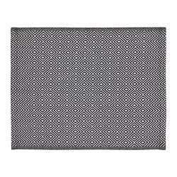 GODDAG place mat, black, white