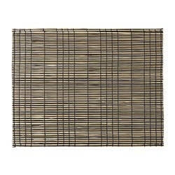 MÖDA place mat, seagrass natural, black
