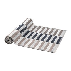 MITTBIT table-runner, black beige, white