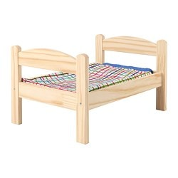 DUKTIG Doll bed with bedlinen set