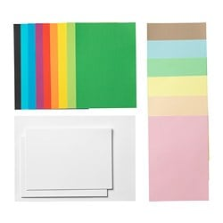 MÅLA paper, mixed colours assorted colours, assorted sizes mixed sizes