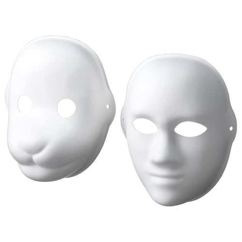 IKEA LUSTIGT Mask, set om 2