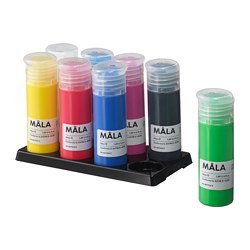 MÅLA paint, mixed colours assorted colours