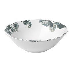 ARV bowl, white, green