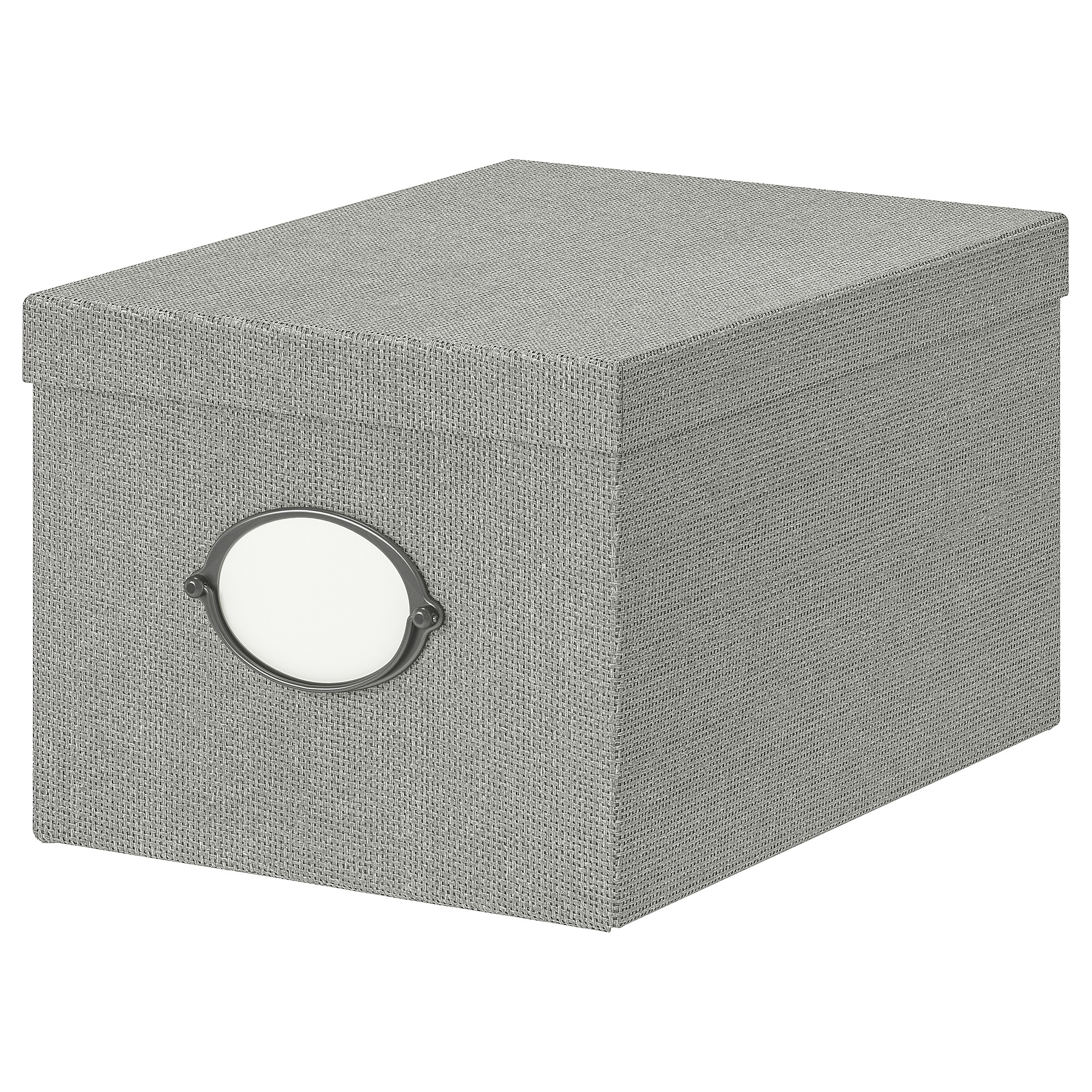Beau KVARNVIK Storage Box With Lid, Gray