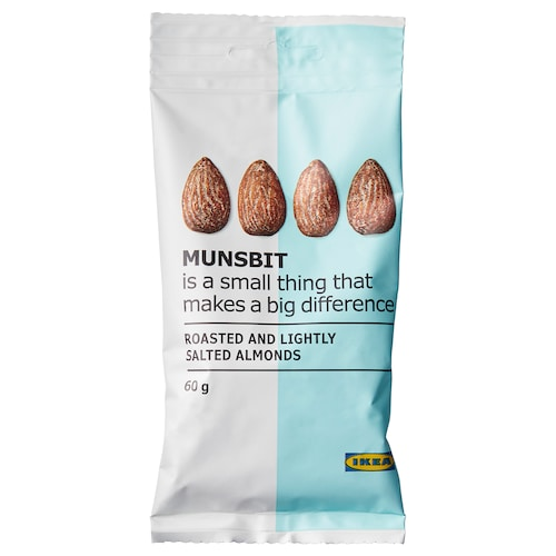 IKEA MUNSBIT Dry-roasted almonds with salt