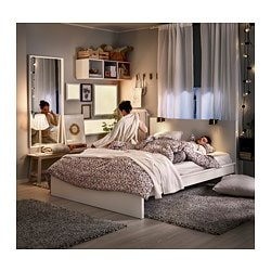 Malm Bed Frame High Queen Luroy White Ikea - White-king-bed-frame